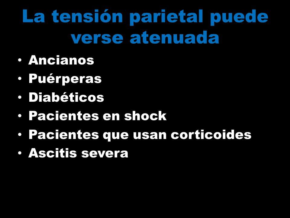 La tensión parietal puede verse atenuada