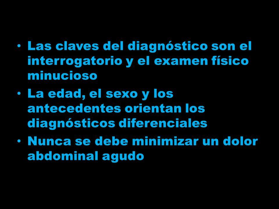 Las claves del diagnóstico son el interrogatorio y el examen físico minucioso