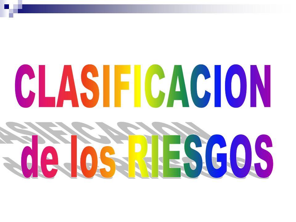 CLASIFICACION de los RIESGOS