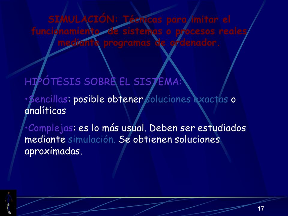 SIMULACIÓN: Técnicas para imitar el funcionamiento de sistemas o procesos reales mediante programas de ordenador.