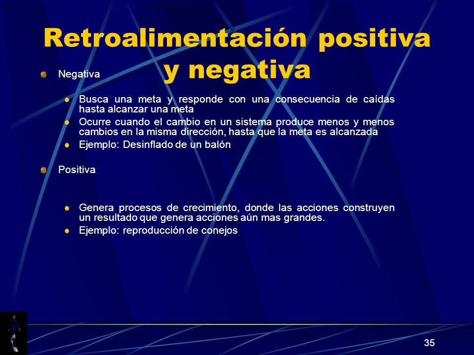 Retroalimentación positiva y negativa
