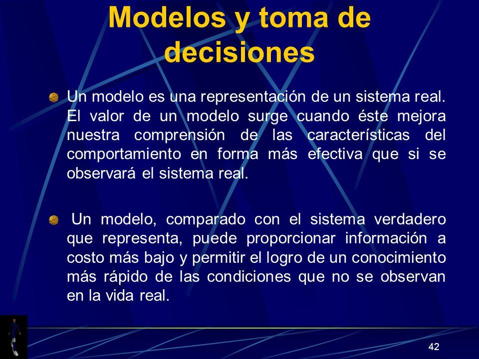 Modelos y toma de decisiones