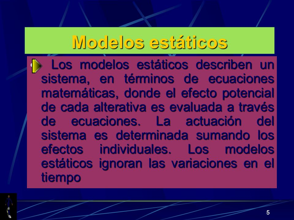 Modelos estáticos