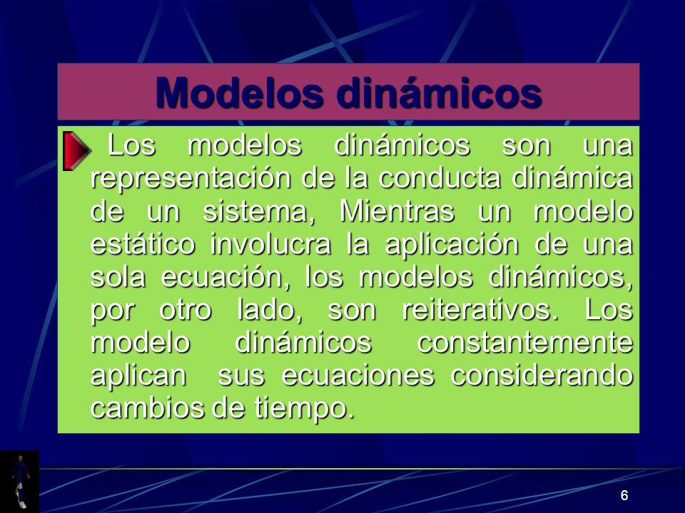 Modelos dinámicos