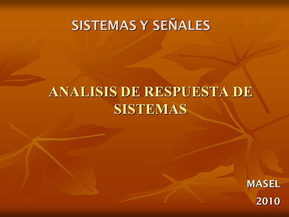 ANALISIS DE RESPUESTA DE SISTEMAS