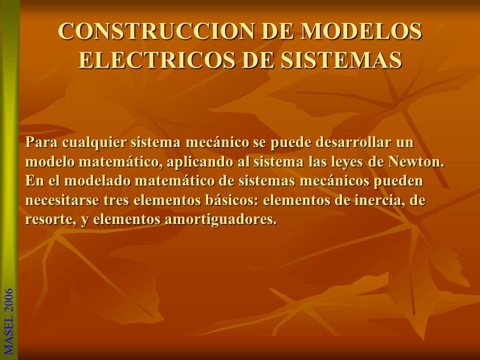 CONSTRUCCION DE MODELOS ELECTRICOS DE SISTEMAS