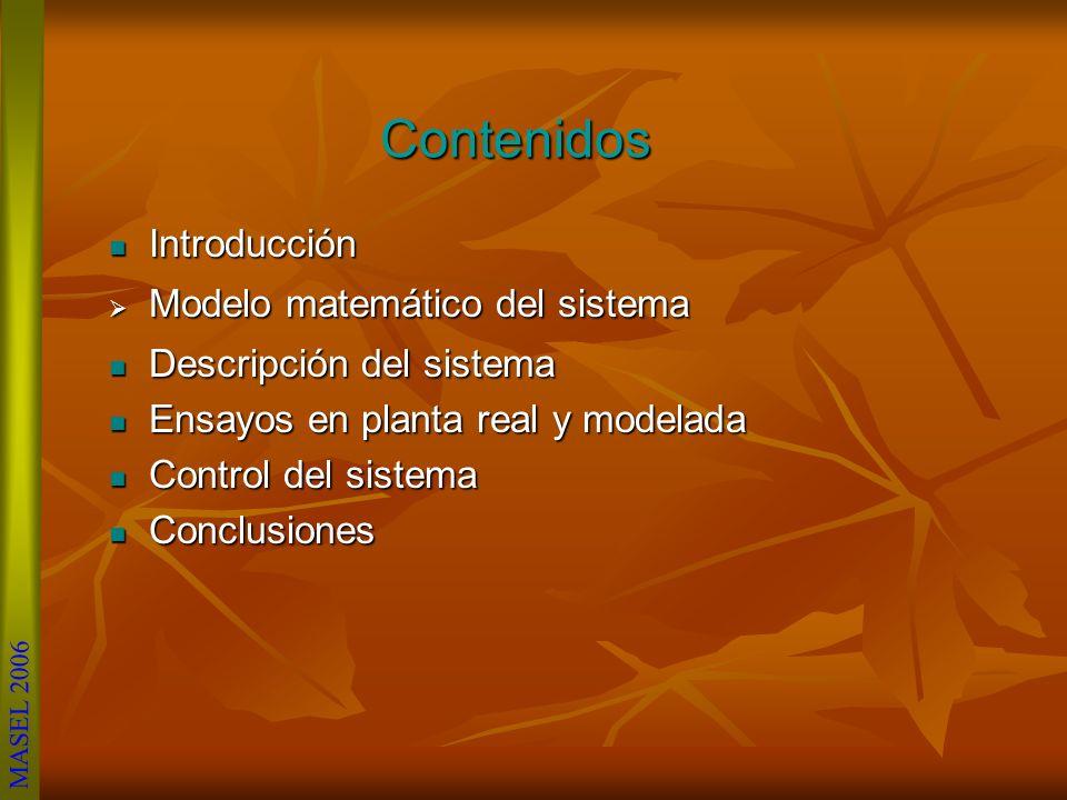 Contenidos Introducción Modelo matemático del sistema