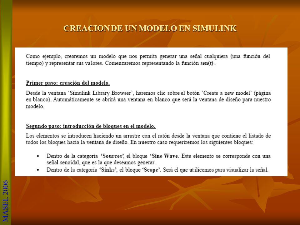 CREACION DE UN MODELO EN SIMULINK