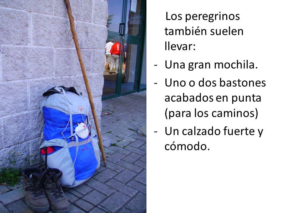 Los peregrinos también suelen llevar: