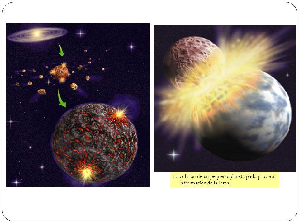 La colisión de un pequeño planeta pudo provocar la formación de la Luna.