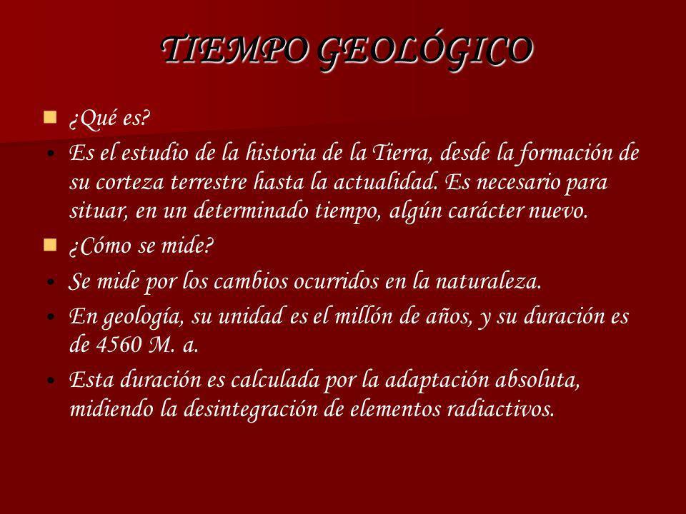 TIEMPO GEOLÓGICO ¿Qué es