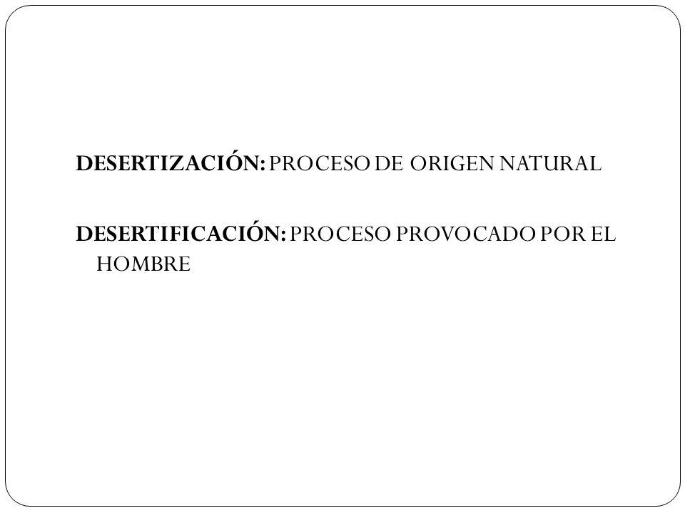 DESERTIZACIÓN: PROCESO DE ORIGEN NATURAL