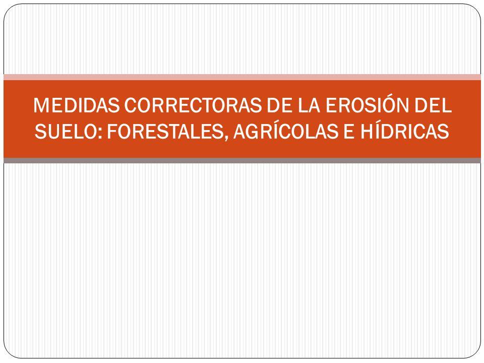 MEDIDAS CORRECTORAS DE LA EROSIÓN DEL SUELO: FORESTALES, AGRÍCOLAS E HÍDRICAS
