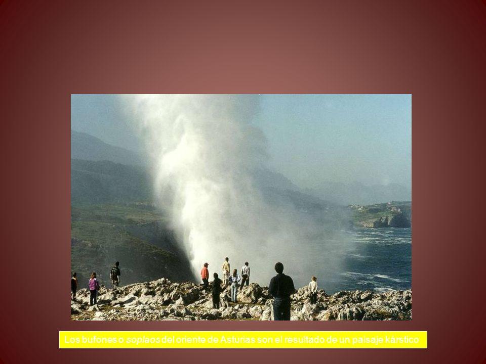Los bufones o soplaos del oriente de Asturias son el resultado de un paisaje kárstico