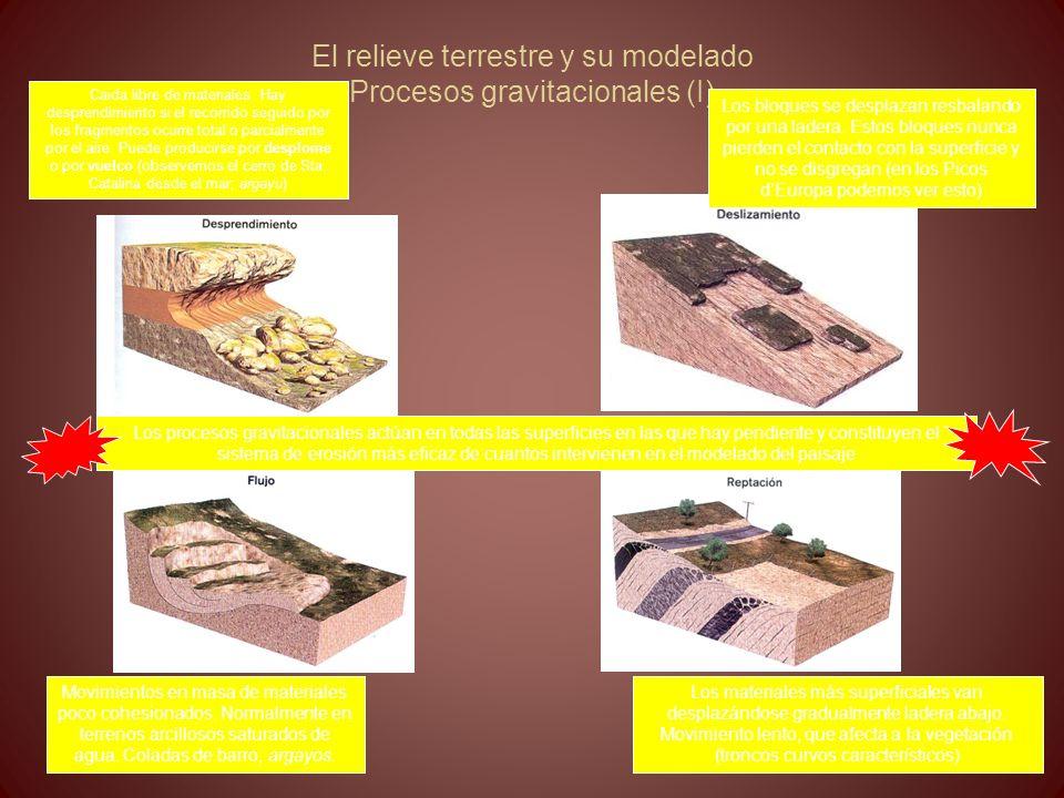 El relieve terrestre y su modelado Procesos gravitacionales (I)