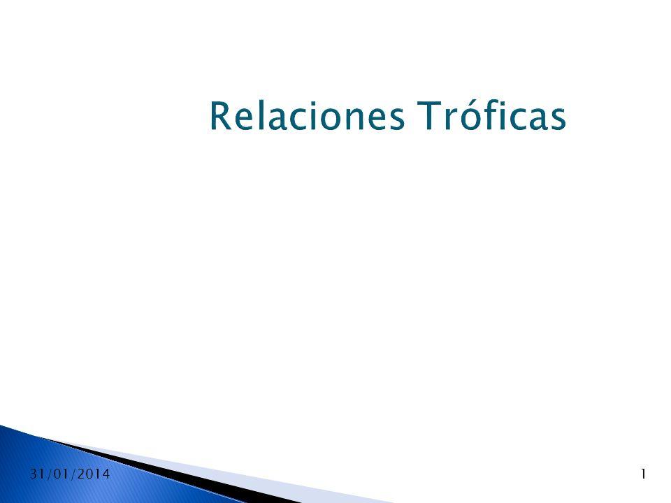 Relaciones Tróficas 24/03/2017 1 1