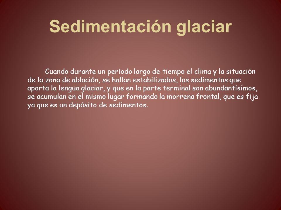 Sedimentación glaciar