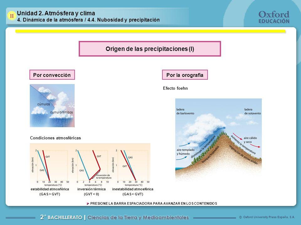 Origen de las precipitaciones (I)