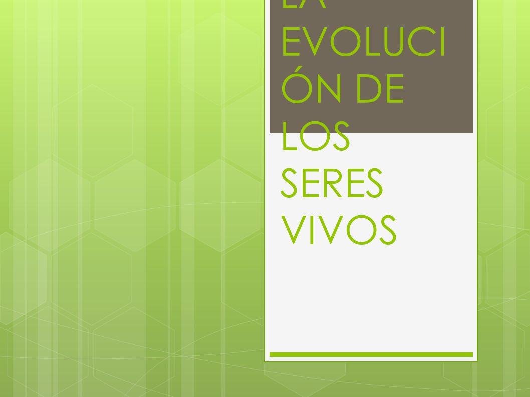 TEMA 5: LA EVOLUCIÓN DE LOS SERES VIVOS