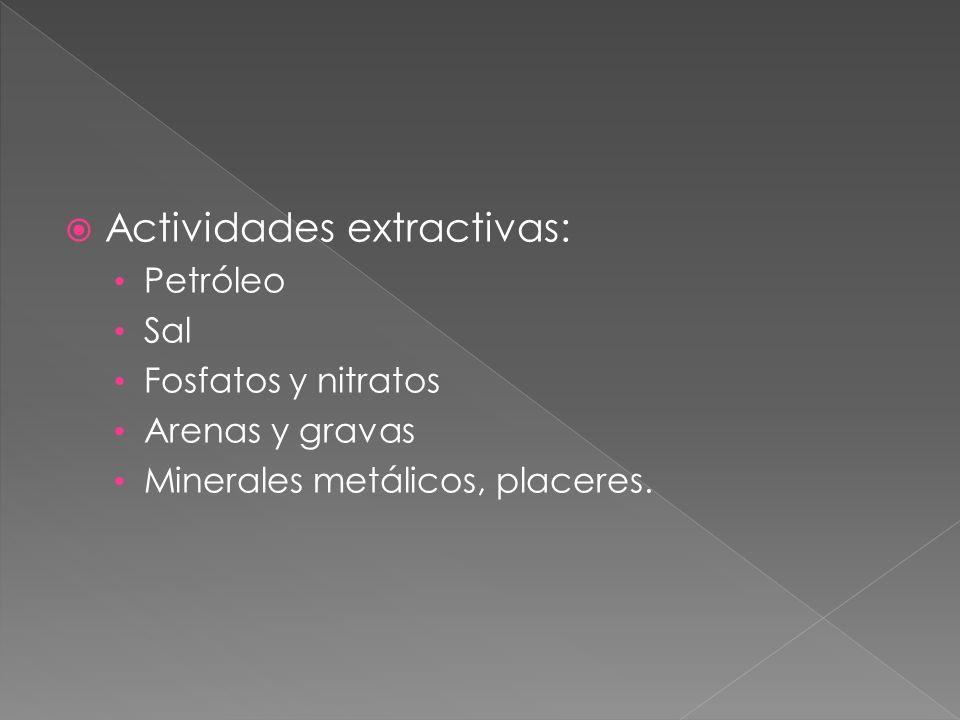 Actividades extractivas: