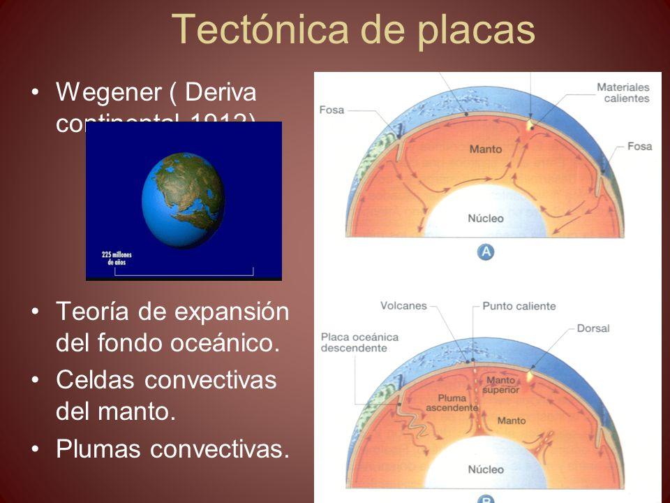 Tectónica de placas Wegener ( Deriva continental 1912)