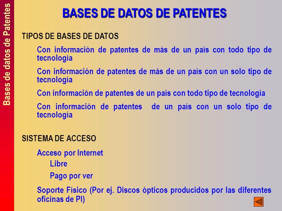 BASES DE DATOS DE PATENTES