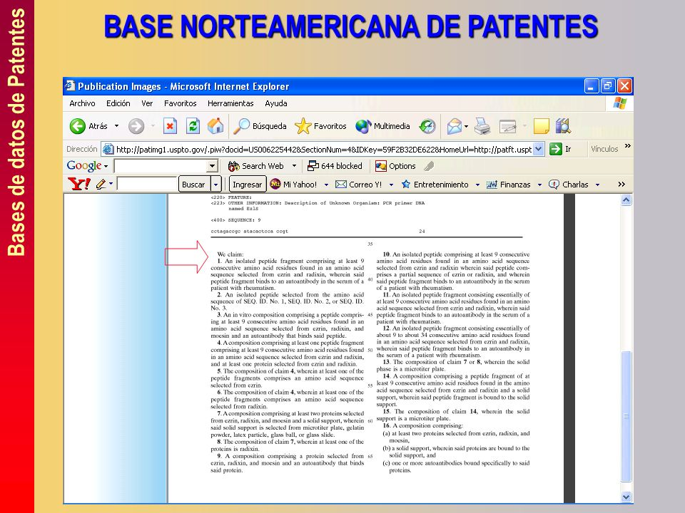 BASE NORTEAMERICANA DE PATENTES