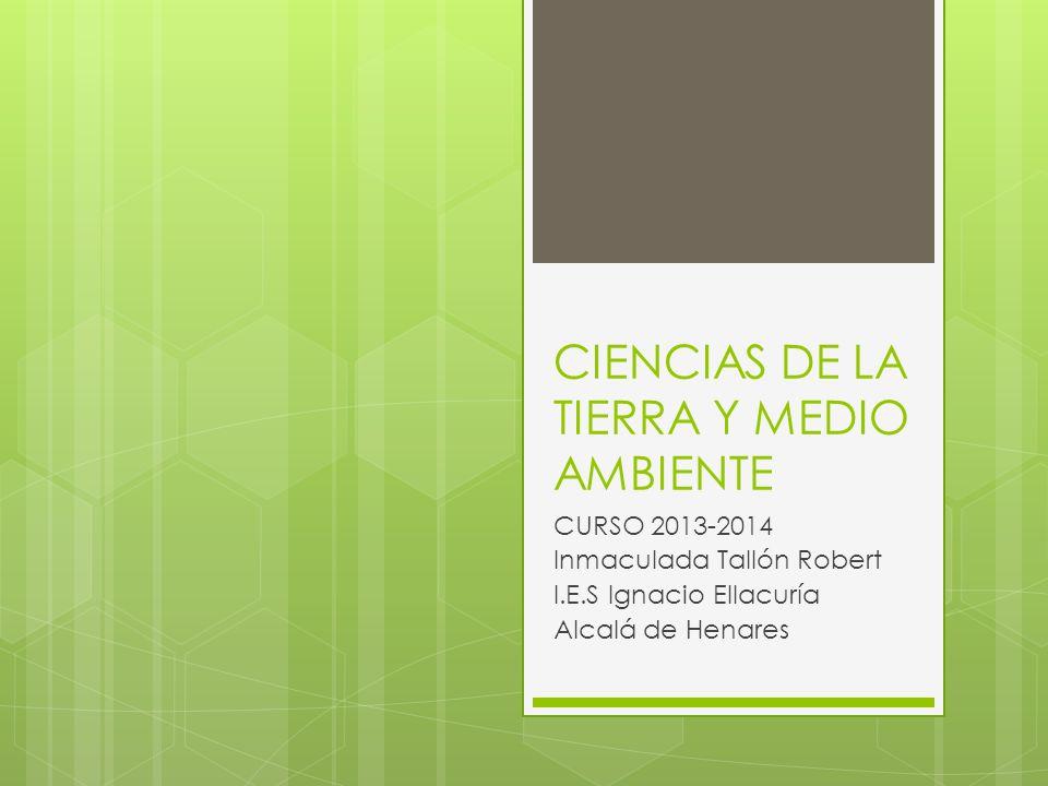 CIENCIAS DE LA TIERRA Y MEDIO AMBIENTE
