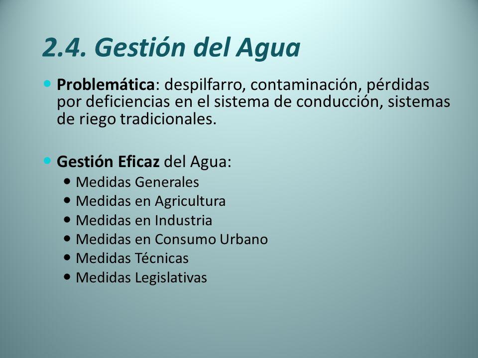 2.4. Gestión del Agua