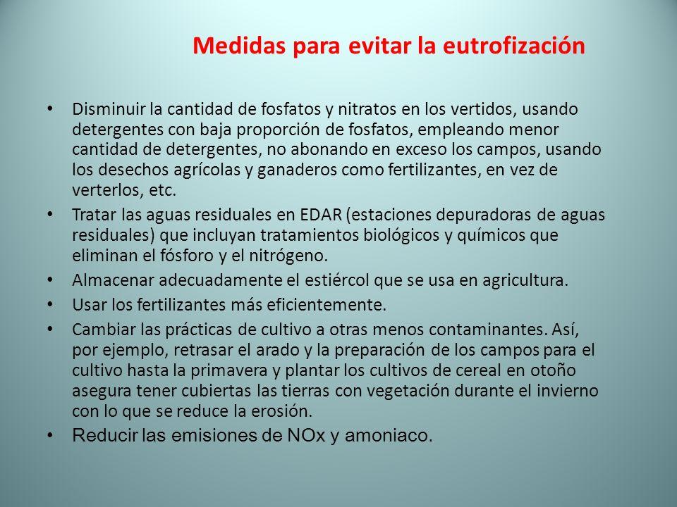 Medidas para evitar la eutrofización