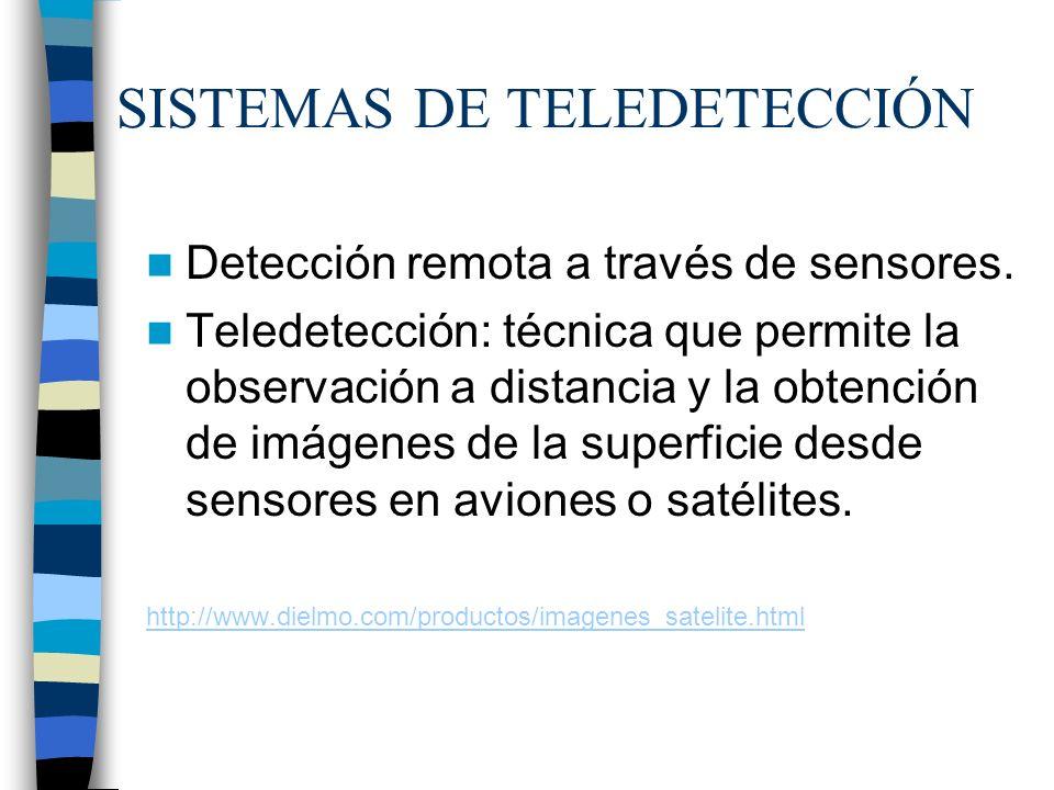 SISTEMAS DE TELEDETECCIÓN
