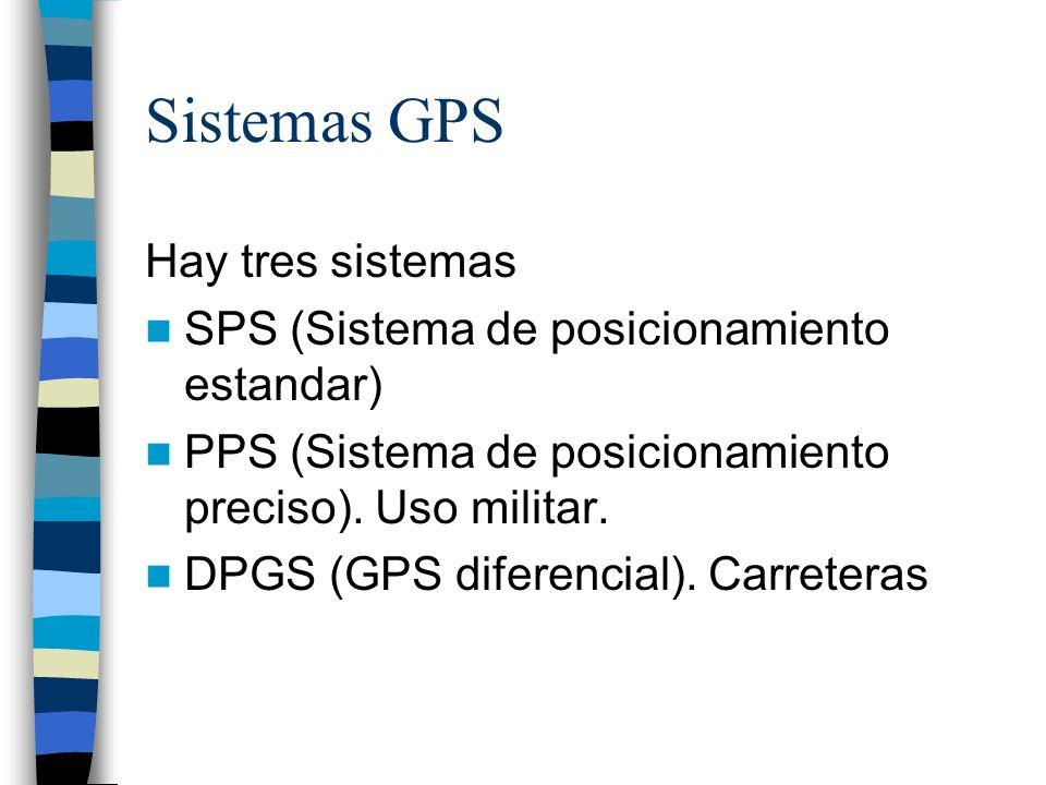 Sistemas GPS Hay tres sistemas