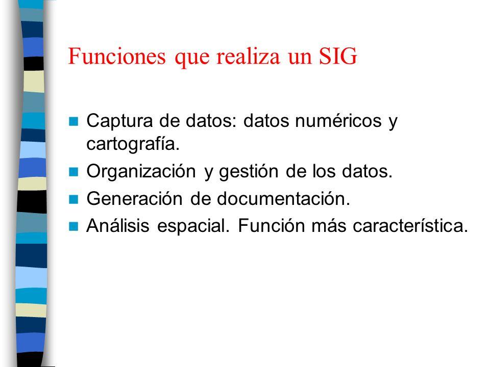 Funciones que realiza un SIG