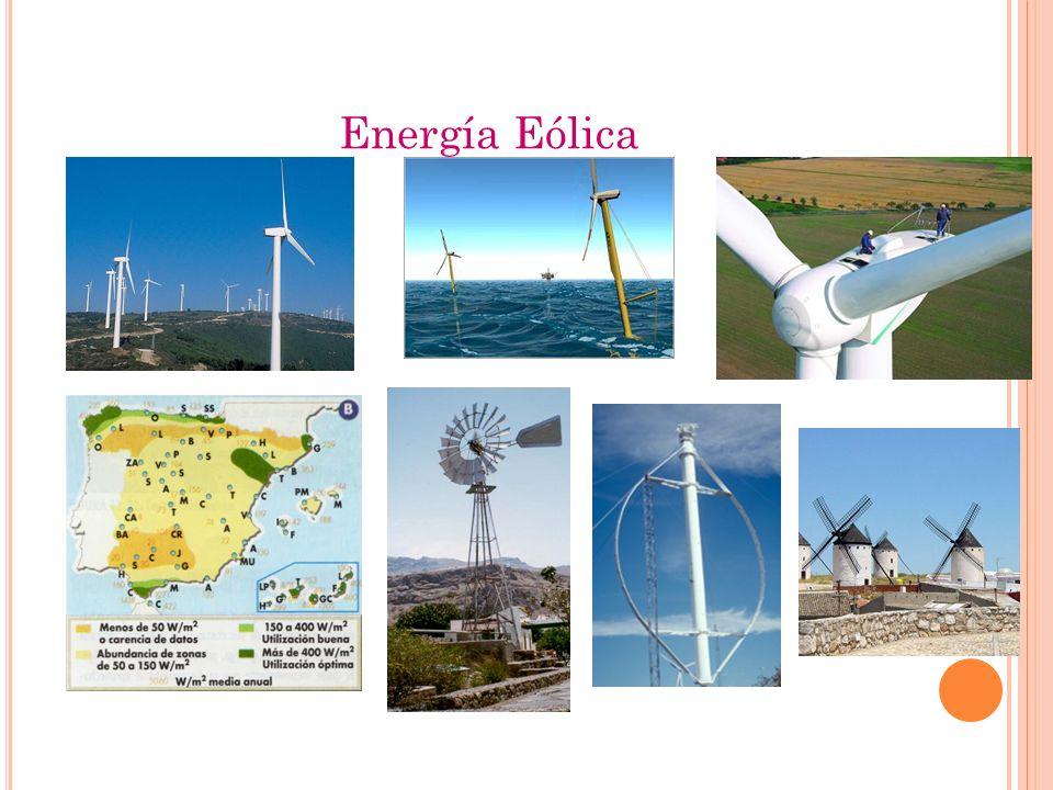 Energía Eólica Los molinos de viento se usan ya desde tiempos de los persas (hace unos 3000 años).