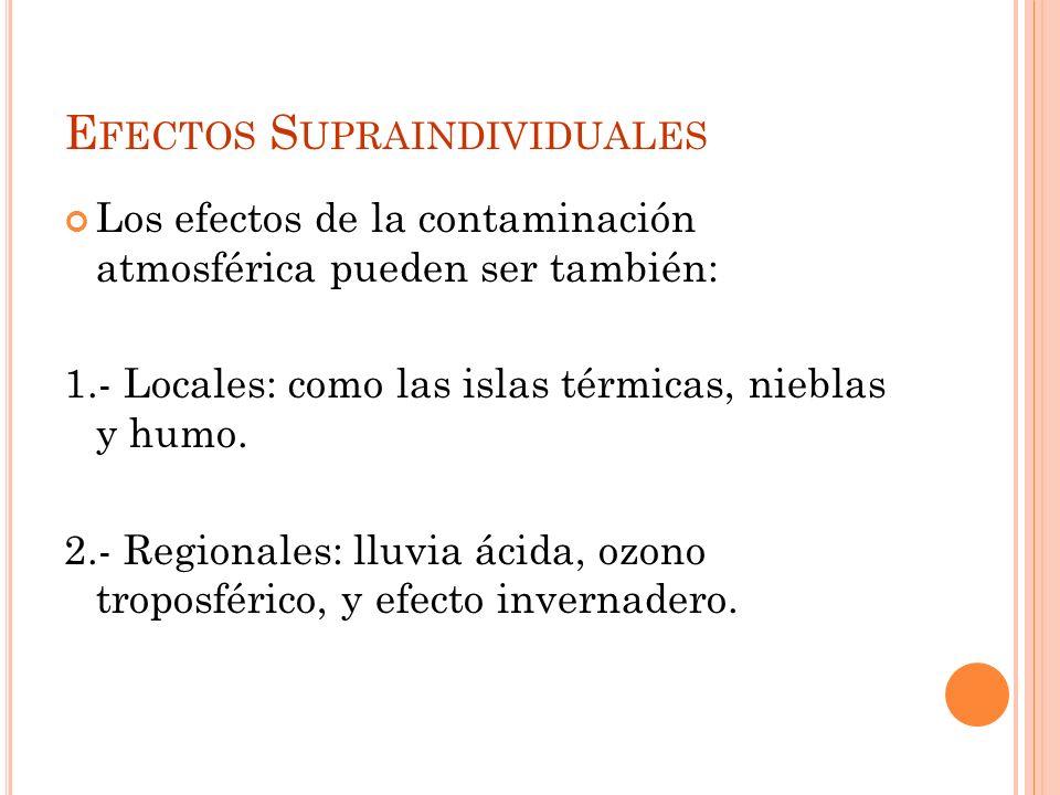 Efectos Supraindividuales