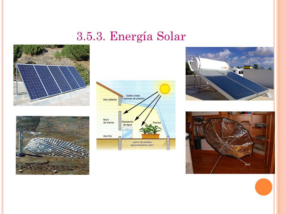 3.5.3. Energía Solar Izquierda: solar fotovoltaica (placa y central de Almería)