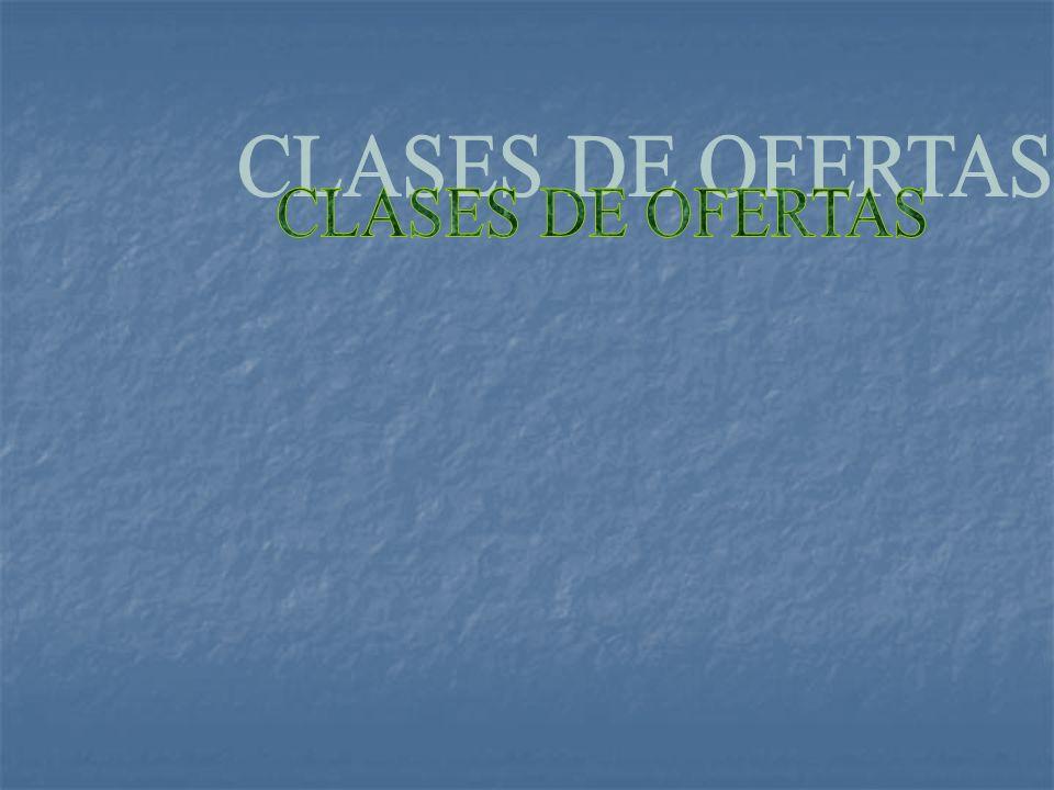 CLASES DE OFERTAS
