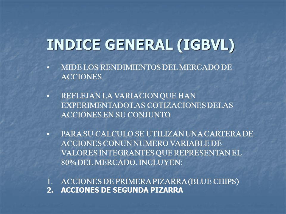 INDICE GENERAL (IGBVL)