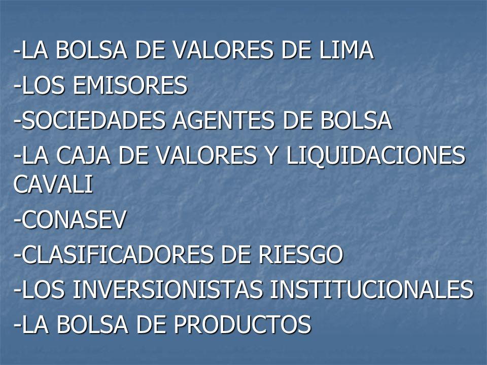 -SOCIEDADES AGENTES DE BOLSA