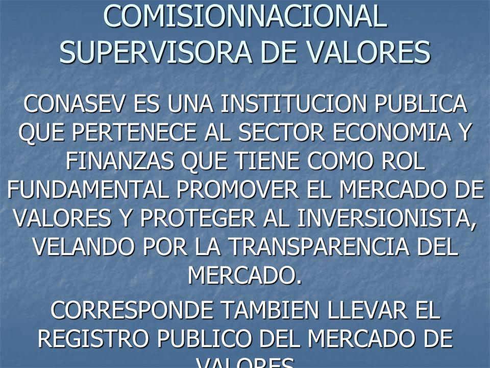 COMISIONNACIONAL SUPERVISORA DE VALORES