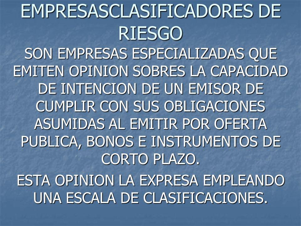 EMPRESASCLASIFICADORES DE RIESGO
