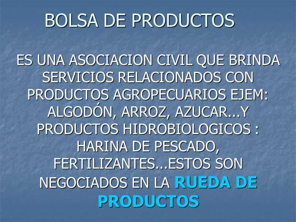 BOLSA DE PRODUCTOS