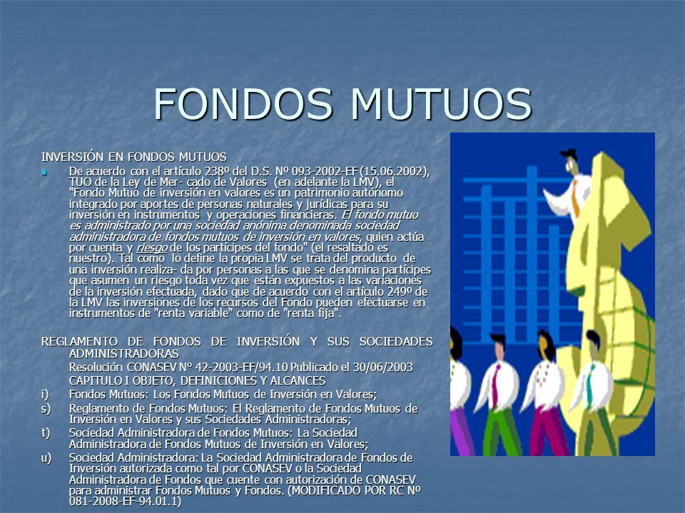 FONDOS MUTUOS INVERSIÓN EN FONDOS MUTUOS