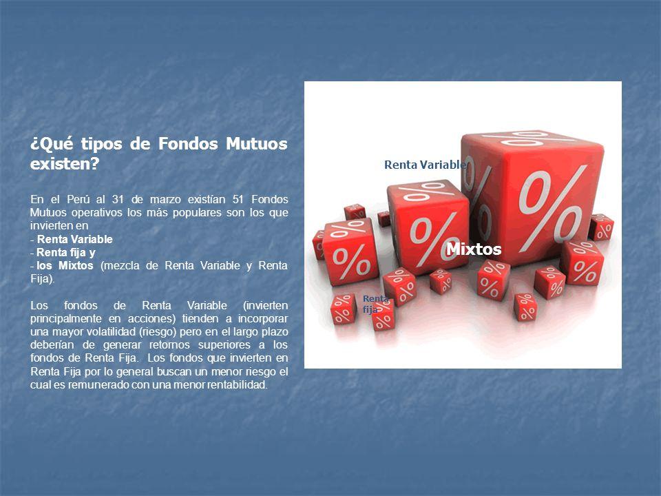 ¿Qué tipos de Fondos Mutuos existen
