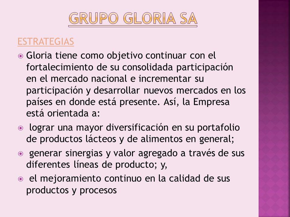 GRUPO GLORIA SA ESTRATEGIAS