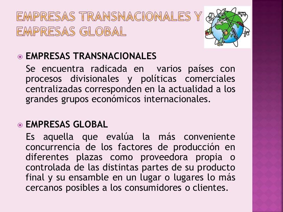 EMPRESAS TRANSNACIONALES Y EMPRESAS GLOBAL