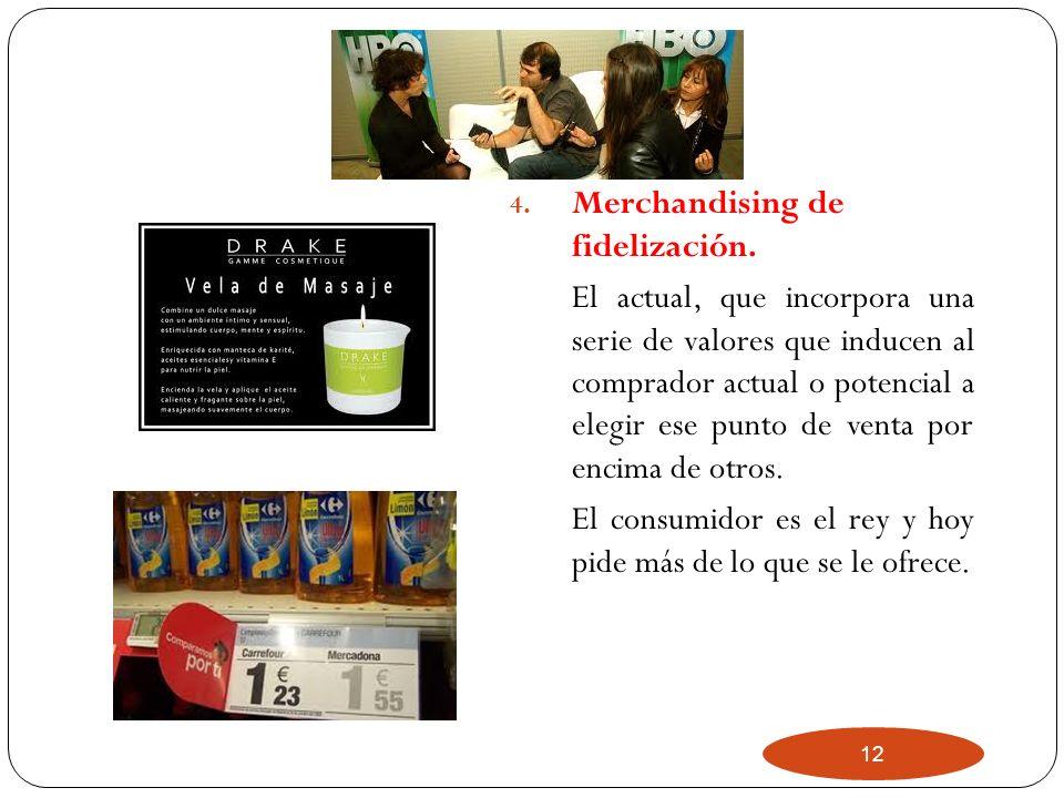 Merchandising de fidelización.