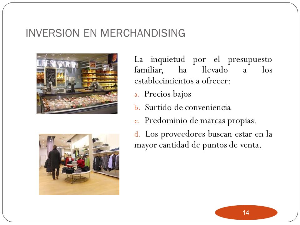 INVERSION EN MERCHANDISING