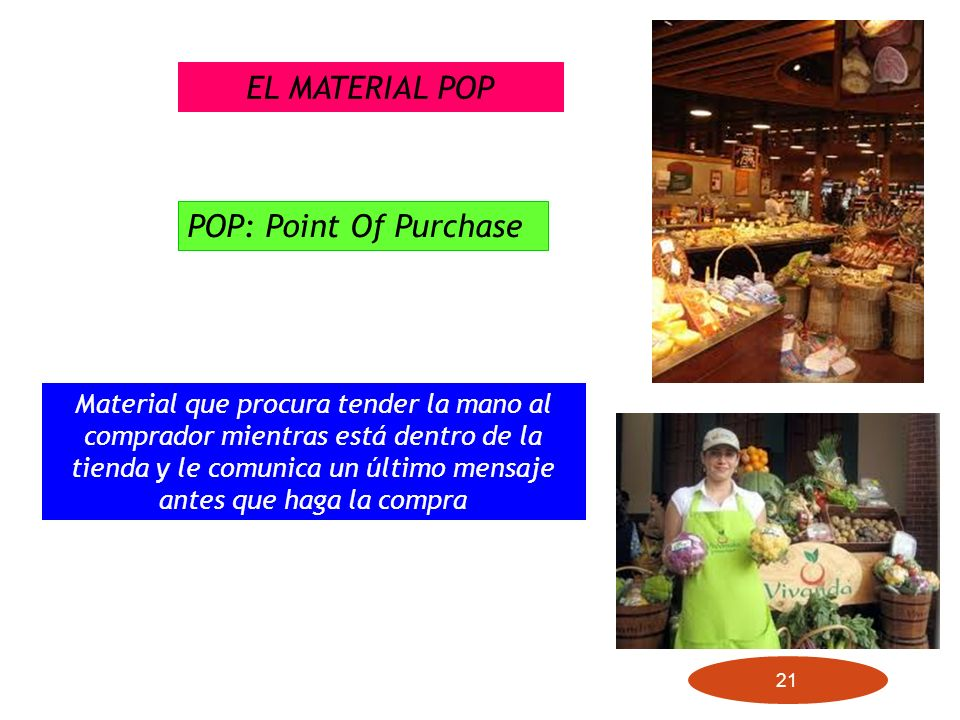 EL MATERIAL POP POP: Point Of Purchase