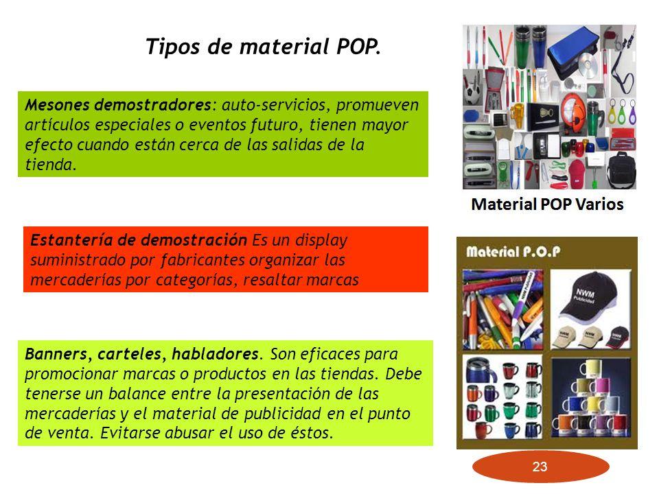 Tipos de material POP.